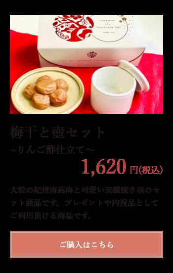 梅干と壺セット りんご酢仕立て 1620円