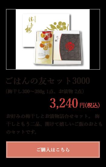 ごはんの友セット3000 3240円